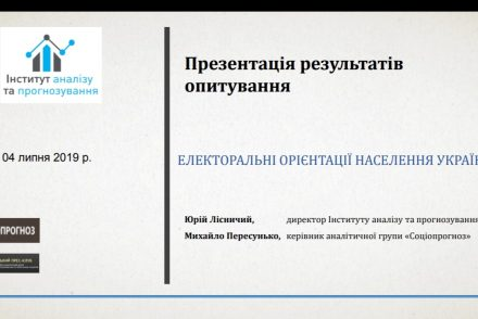 Електоральні орієнтації населення: Партійні уподобання виборця та який вектор розвитку обирає країна