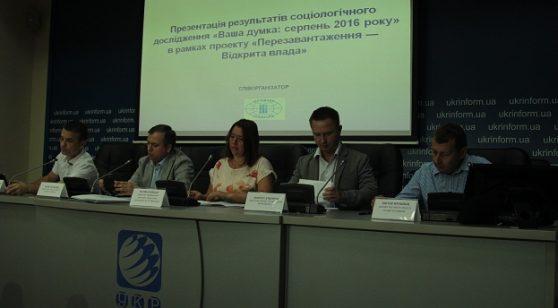 «Ваша думка: серпень 2016 року» Моніторинг громадської думки населення України